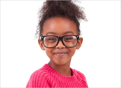 kids eyeglass fitting